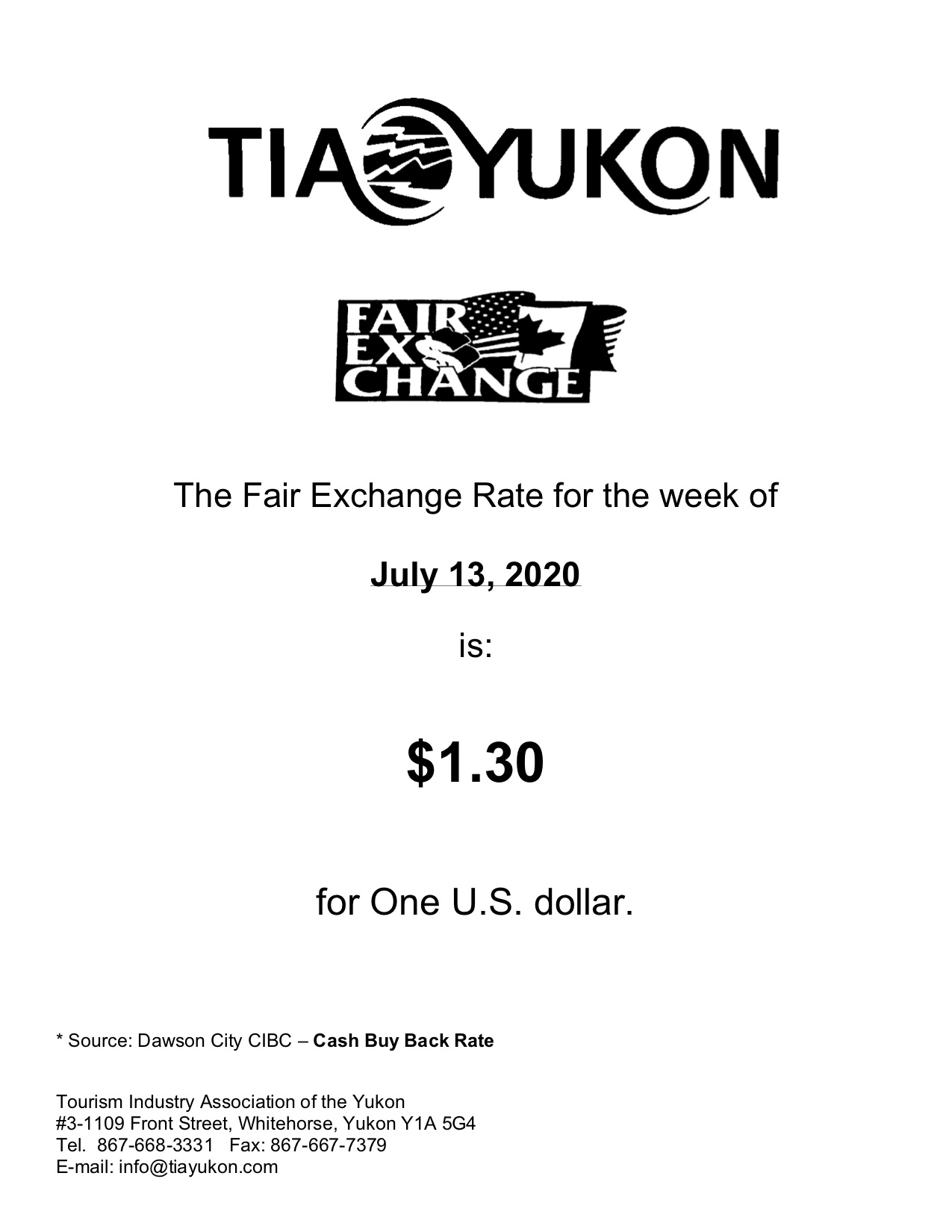 Fair Exchange July 13th, 2020